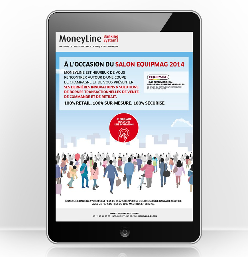 E-mailing invitation Salon Equipmag
