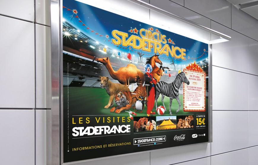 Affichage métro Circus au Stade de France