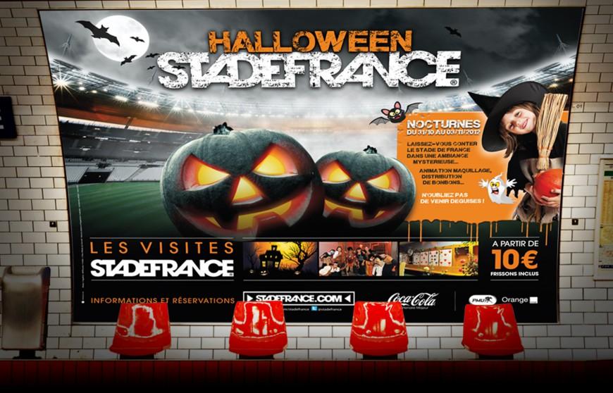 Affichage 4×3 métro Halloween au Stade de France