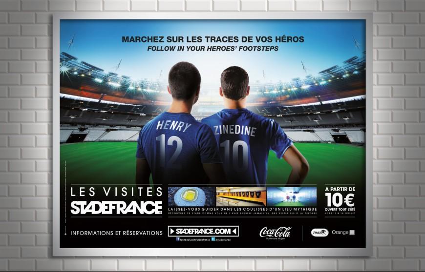 Affichage métro Les visites Stade de France