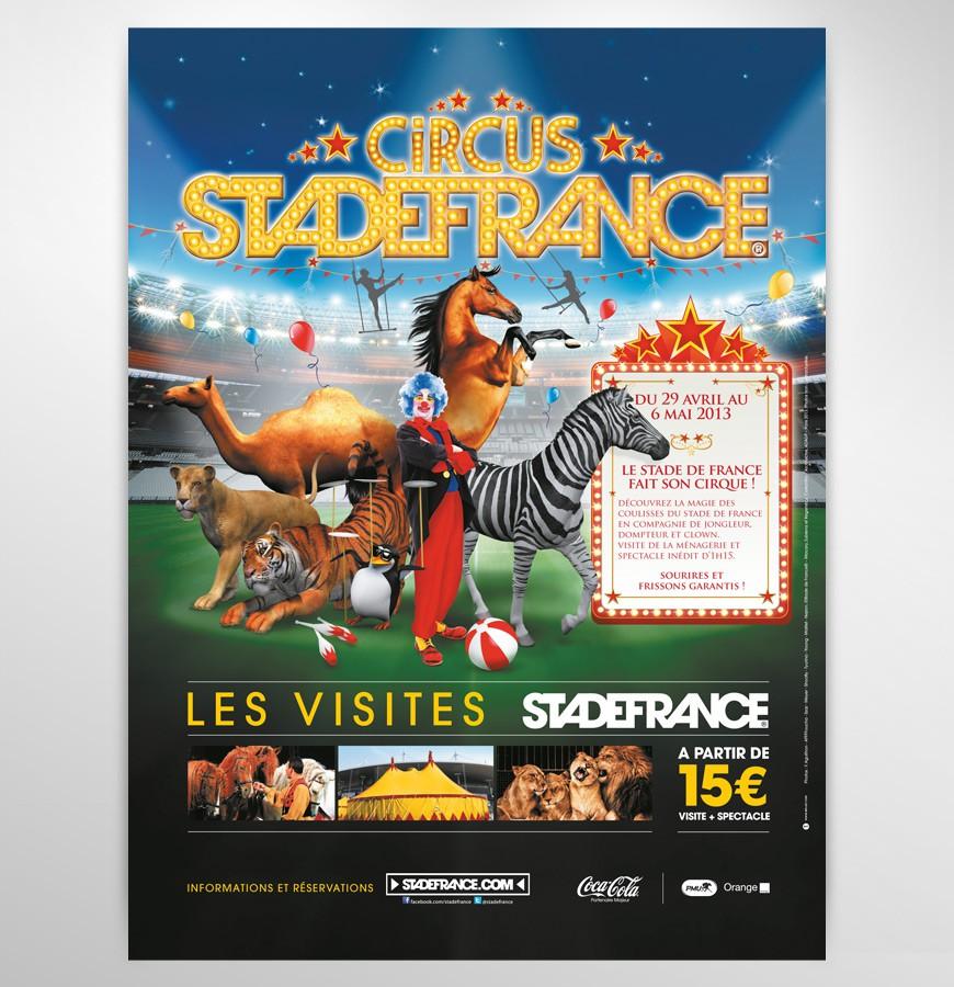 Stade de France Les visites affiche Circus