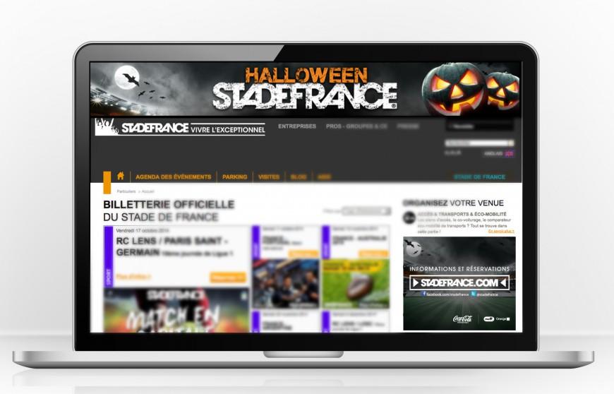 Halloween au Stade de France campagne bannières web