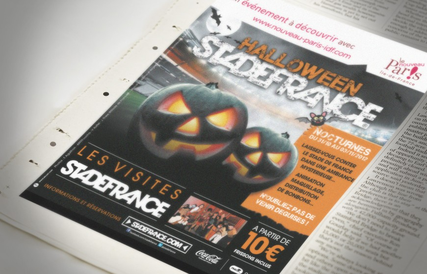 Halloween au Stade de France encart presse