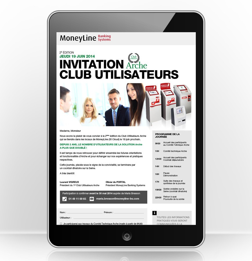E-mailing invitation Club Moneyline